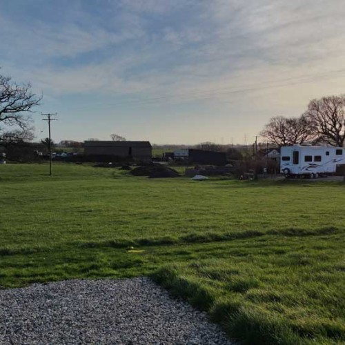 View of farm from glamping area