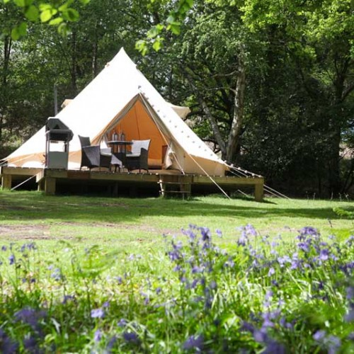 Glamping canvas cottage