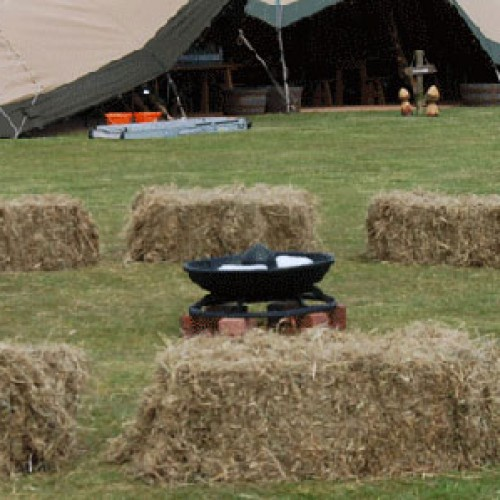 haybales-around-a-fire