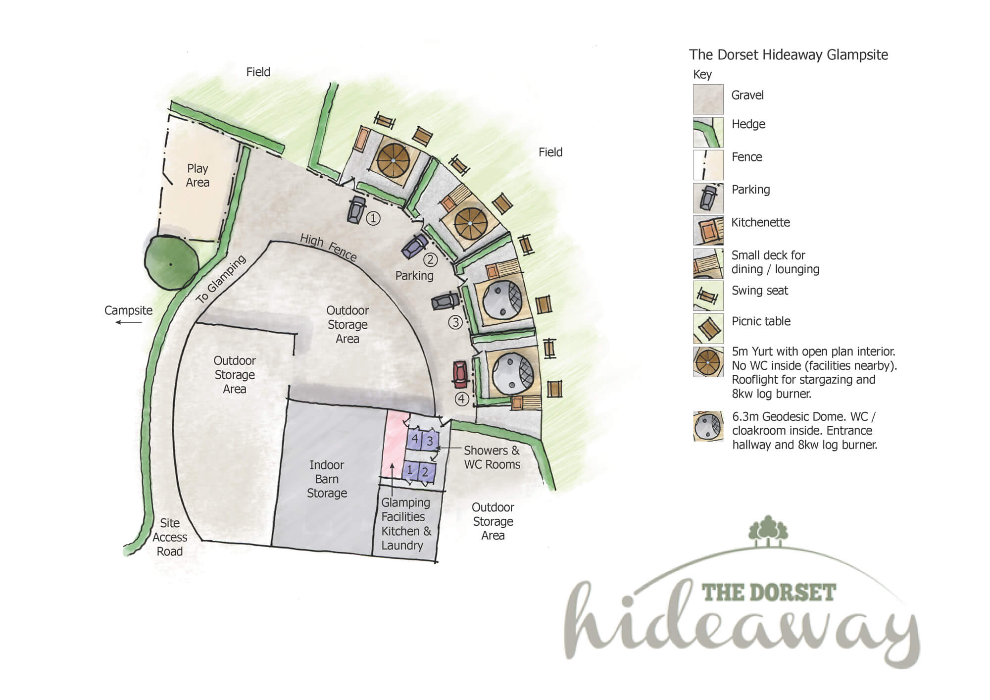 Glamping-Area-sitemap