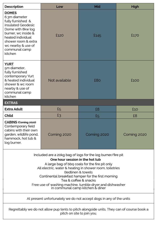 Glamping-prices-2019