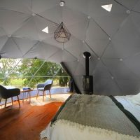 geodesic dome interior