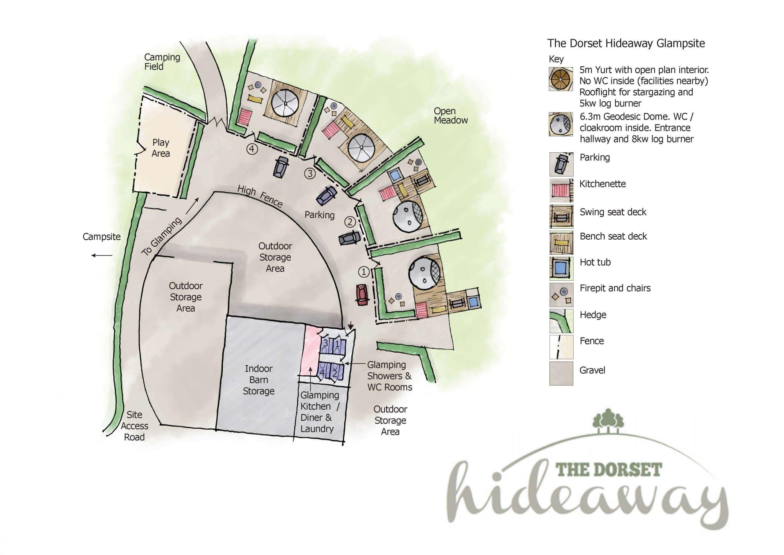 Dorset Hideaway Glamping Area Rev F June